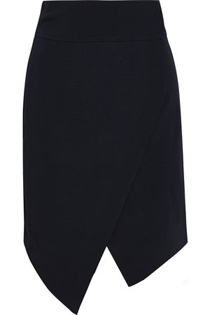 Roberto Cavalli Women Mini Skirts - Woman Asymmetric Crepe Mini Wrap Skirt Size 40