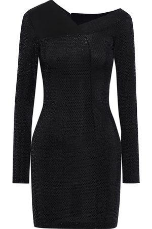 Roberto Cavalli Women Party Dresses - Woman Burnout-effect Sequined Stretch-knit Mini Dress Size 40