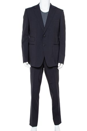Gucci Navy Striped Wool Suit XXL