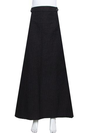 Kenzo Cotton Polka Dot Pleated Back Detail Maxi Skirt L