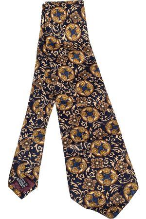 Dior Vintage Printed Silk Traditional Tie