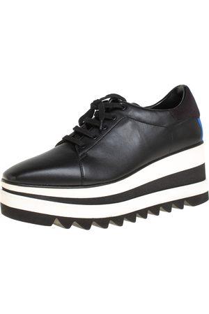 Stella McCartney Faux Leather Elyse Platform Derby Sneakers Size 40