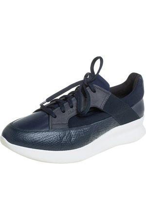 Salvatore Ferragamo Mesh And Leather Duo Sneakers Size 41.5