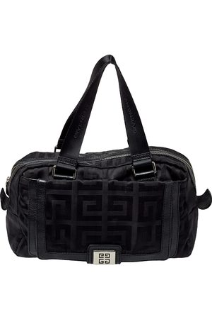 Givenchy Leather And Signature Canvas Duffel Bag