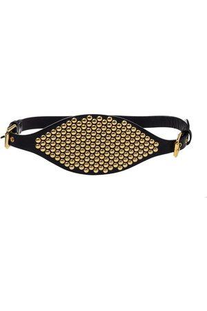 Giuseppe Zanotti Leather Studded Waist Belt Medium