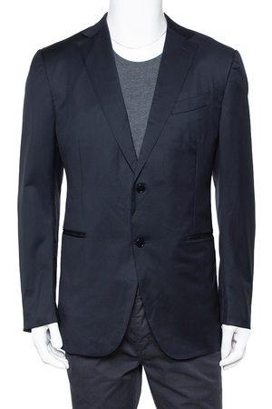 Ermenegildo Zegna Navy Wool Button Front Regular Fit Blazer XXL