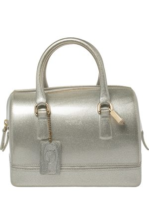 Furla Grey/ Shimmering Glossy Rubber Candy Satchel