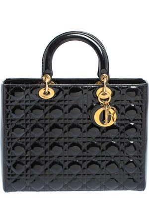 Dior Cannage Patent Leather Large Lady Tote