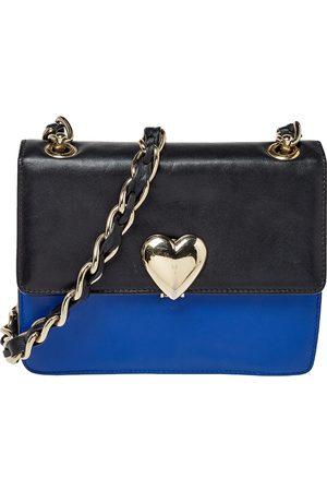 RED Valentino /Black Leather Flap Shoulder Bag