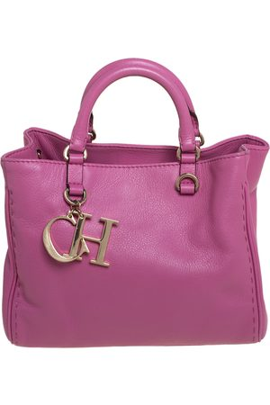 CH Carolina Herrera Carolina Herrera Leather Charm Tote