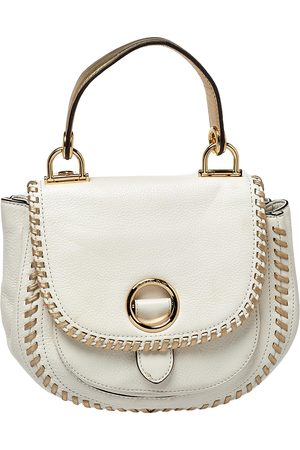 Michael Kors /Gold Leather Isadore Stitch Top Handle Bag
