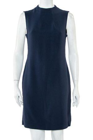 Joseph Navy Fluide Crepe Sleeveless Sammy Dress L
