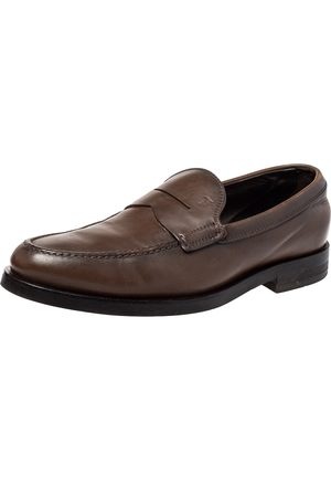 Tod's Leather Penny Slip On Loafers Size 39.5