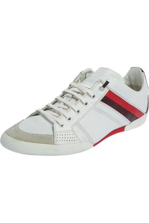 Dior Leather And Suede Low Top Sneakers Size 41.5