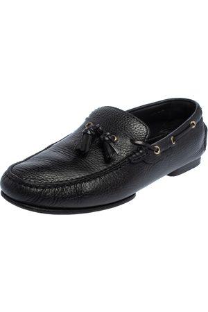 Tom Ford Leather Tassel Slip On Loafers Size 43