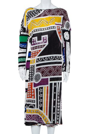 Roberto Cavalli Printed Knit Shift Dress M