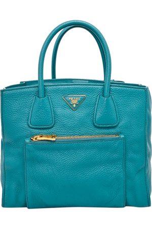 Prada Calfskin Leather Glace Pocket Tote Bag