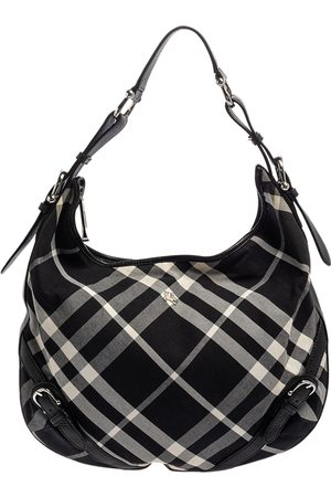 Burberry Check Canvas and Leather Large Larkin Hobo