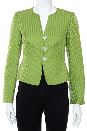 Armani Cotton & Silk Button Front Blazer S