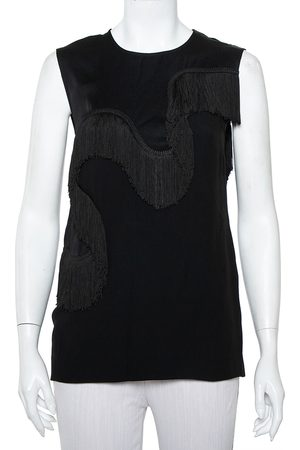 Stella McCartney Crepe Fringe Detail Sleeveless Top S