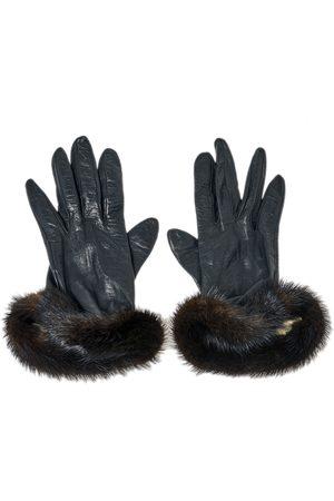 Dior Leather and Mink Fur Gloves