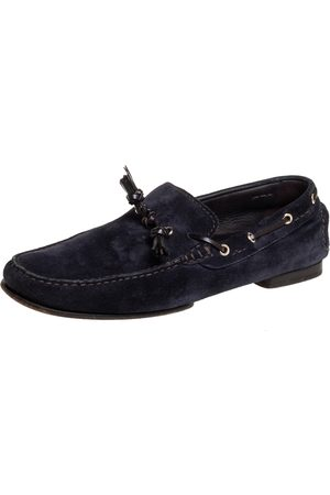Tom Ford Navy Suede Driving Loafers Size 42.5