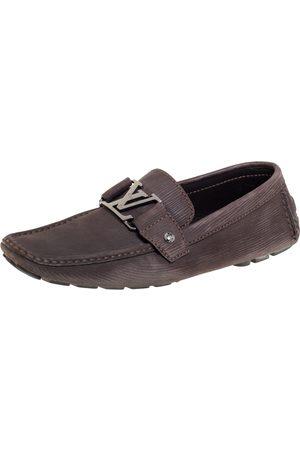 LOUIS VUITTON Epi Leather Monte Carlo Slip On Loafers Size 41