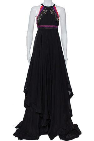 Gucci Embellished Silk Cutaway Asymmetrical Layered Gown S