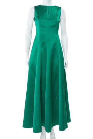 Carolina Herrera CH Satin Open Back Sleeveless Gown S