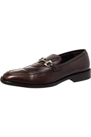 Salvatore Ferragamo Leather Gancini Bit Loafers Size 42.5