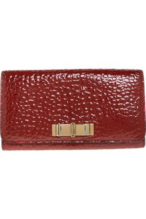Burberry Embossed Patent Leather Penrose Continental Wallet