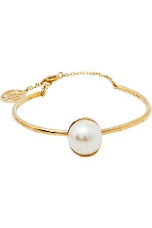 CH Carolina Herrera Carolina Herrera Faux Pearl Tone Cuff Bracelet