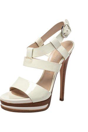Casadei Patent Leather Strappy Platform Sandals Size 36