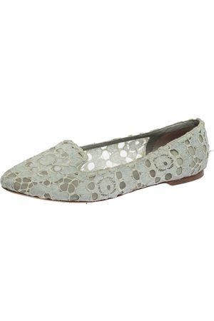 Dolce & Gabbana Light Lace Smoking Slippers Size 41