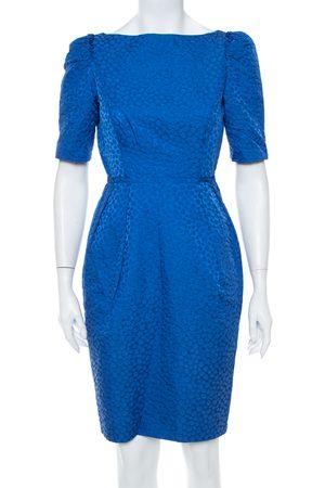CH Carolina Herrera Textured Cotton Sheath Dress S