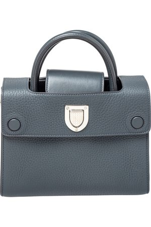 Dior Grey Pebbled Leather Mini ever Tote