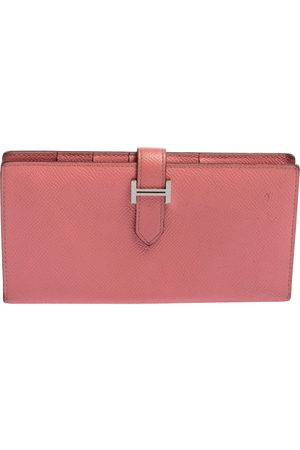 Hermès Rose Confetti Epsom Leather Bearn Classic Wallet