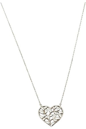 Tiffany & Co. Paloma Picasso Olive Leaf Heart Sterling Necklace