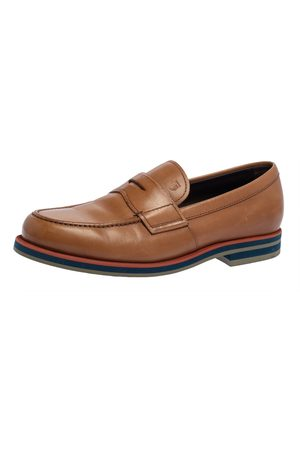 Tod's Tan Leather Slip On Loafers Size 41