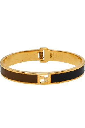 Fendi The sta Bicolor Enamel Tone Bracelet S