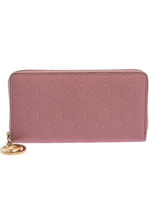 Gucci Ssima Leather GG Icon Zip Around Wallet