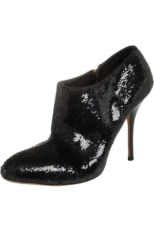Gucci Dark Sequin Ankle Booties Size 38.5