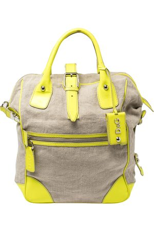 DandG D&G Neon /Beige Canvas and Patent Leather Olivia Convertible Backpack