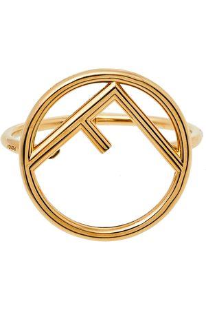 Fendi F Is Tone Cuff Bracelet M