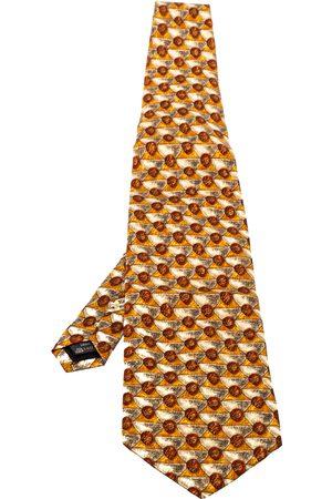 Ermenegildo Zegna Vintage Printed Silk Traditional Tie