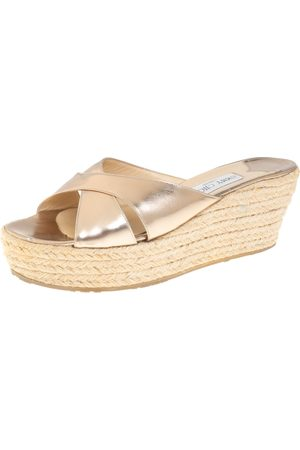 Jimmy Choo Crisscross Wedge Sandals Size 40.5