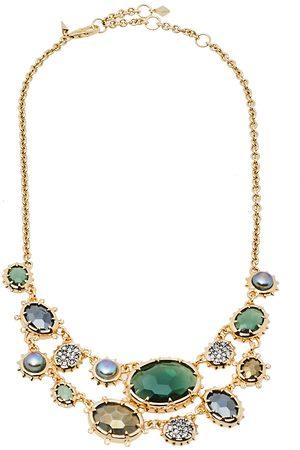 Alexis Bittar Georgian Multicolor Stone Tone Double Strand Necklace