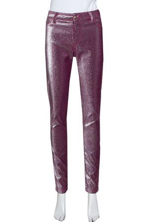Roberto Cavalli Lurex Knit Just Chic Jeggings L