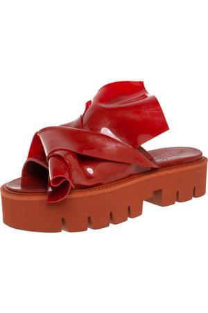 Nº21 X Kartell Rubber Knot Platform Slides Sandals Size 40