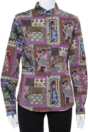 Etro Paisley Printed Button Front Fitted Shirt L